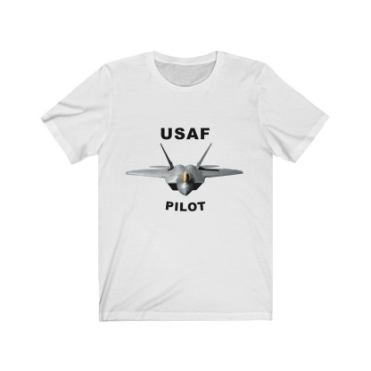 airplaneTees USAF Pilot Tee F22 - Unisex Jersey Short Sleeve Tee 2