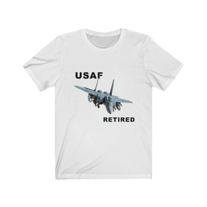 airplaneTees USAF Retired Tee F15 - Unisex Jersey Short Sleeve Tee 2