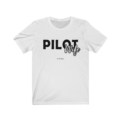 airplaneTees The Real Captain - Pilot Wife - Unisex Jersey Short Sleeve Tee 2