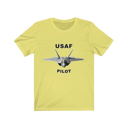 airplaneTees USAF Pilot Tee F22 - Unisex Jersey Short Sleeve Tee 6