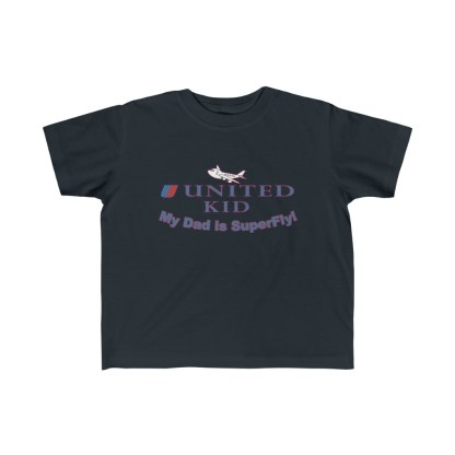 airplaneTees United Dad is Superfly Tee - Kid's Fine Jersey 4