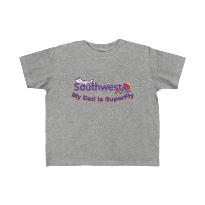 airplaneTees Southwest Dad is Superfly tee - Kid's Fine Jersey 1