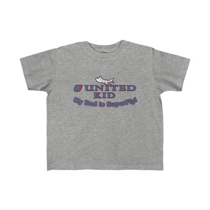airplaneTees United Dad is Superfly Tee - Kid's Fine Jersey 3
