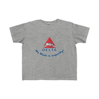 airplaneTees Delta My Mom is Superfly Kid's Tee - Fine Jersey - Delta Mom 3