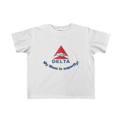 airplaneTees Delta My Mom is Superfly Kid's Tee - Fine Jersey - Delta Mom 2