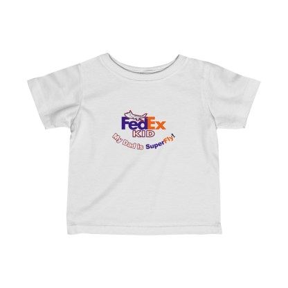 airplaneTees FedEx Dad is Superfly Tee - Infant Fine Jersey 2