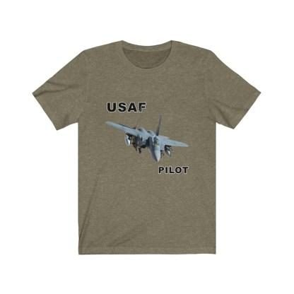 airplaneTees USAF Pilot Tee F15 - Unisex Jersey Short Sleeve Tee 7
