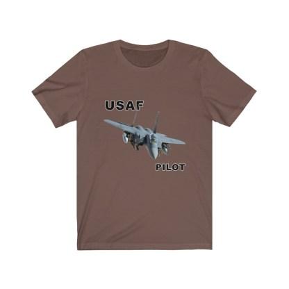 airplaneTees USAF Pilot Tee F15 - Unisex Jersey Short Sleeve Tee 5