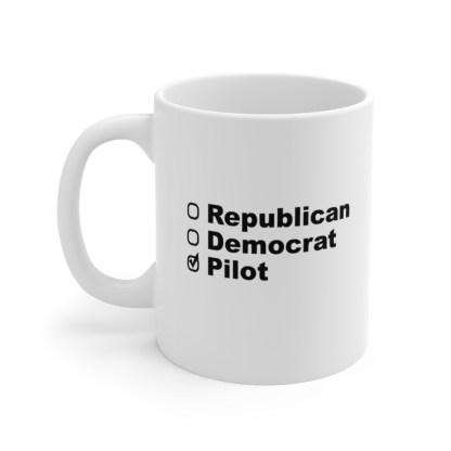 airplaneTees Political Pilot Coffee Mug - Ceramic 11oz 1