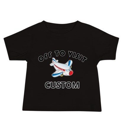 airplaneTees Off to Visit Grandma Tee CUSTOM - Baby Jersey Short Sleeve - Grandma, Nana, PA, Nannie, Mom, Uncle 1
