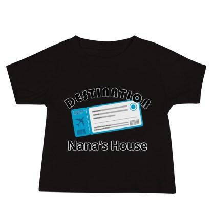 airplaneTees Destination Nanas House, Custom Text, Destination Grandma's house etc - Baby Jersey Short Sleeve Tee 2