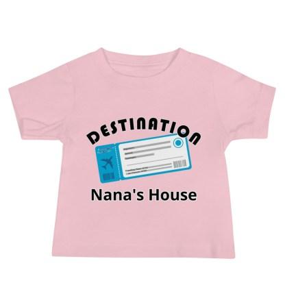 airplaneTees Destination Nanas House, Custom Text, Destination Grandma's house etc - Baby Jersey Short Sleeve Tee 3