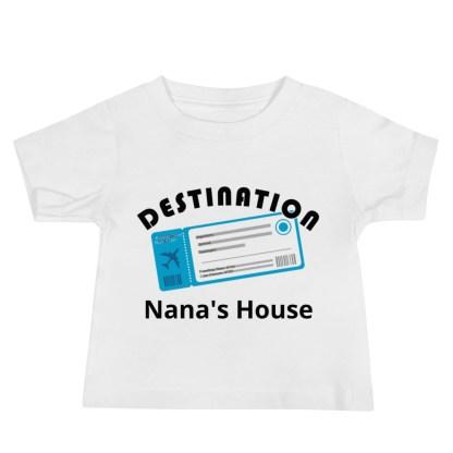 airplaneTees Destination Nanas House, Custom Text, Destination Grandma's house etc - Baby Jersey Short Sleeve Tee 4