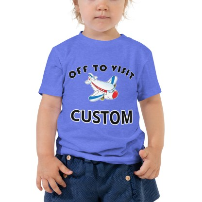 airplaneTees CUSTOM Off to visit tee - Off to visit grandma, off to visit Nana, Mom, Dad, Uncle Toddler Short Sleeve Tee 2