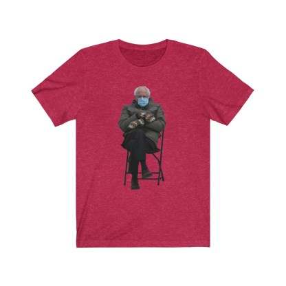 airplaneTees Bernie Sanders In Parka and Mittens Tee - Unisex Jersey Short Sleeve 15