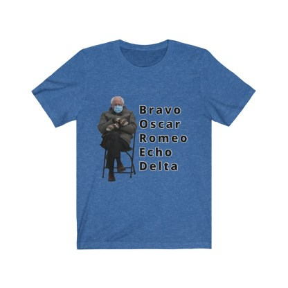 airplaneTees Bernie Sanders In Parka and Mittens Tee - BORED - Unisex Jersey Short Sleeve 8