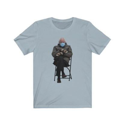 airplaneTees Bernie Sanders In Parka and Mittens Tee - Unisex Jersey Short Sleeve 9