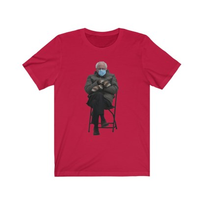 airplaneTees Bernie Sanders In Parka and Mittens Tee - Unisex Jersey Short Sleeve 16