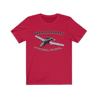 airplaneTees BRRRRRRT A10 Warthog Tee - Unisex Jersey Short Sleeve 14