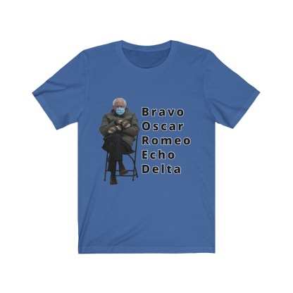 airplaneTees Bernie Sanders In Parka and Mittens Tee - BORED - Unisex Jersey Short Sleeve 7