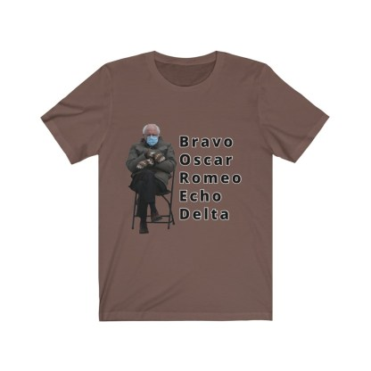 airplaneTees Bernie Sanders In Parka and Mittens Tee - BORED - Unisex Jersey Short Sleeve 4