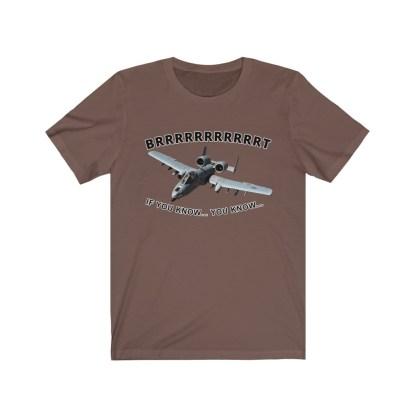 airplaneTees BRRRRRRT A10 Warthog Tee - Unisex Jersey Short Sleeve 4