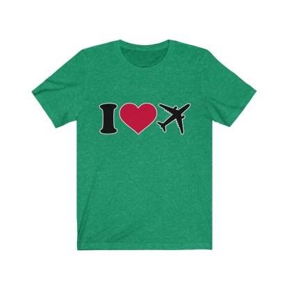 airplaneTees I Love Flying Tee - I Love Airplanes Tee - I Heart Flying Tee - I Heart Airplanes Tee - Unisex Jersey Short Sleeve Tee 6
