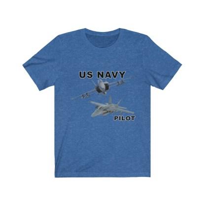 airplaneTees USN F18 Pilot Tee - Option 2 - Unisex Jersey Short Sleeve 7