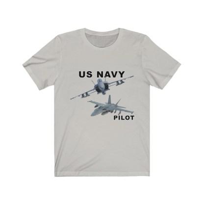 airplaneTees USN F18 Pilot Tee - Option 2 - Unisex Jersey Short Sleeve 5