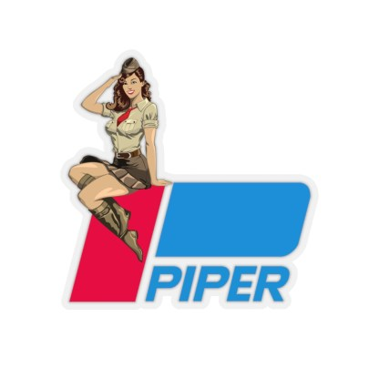 airplaneTees Pin up Piper Stickers 1