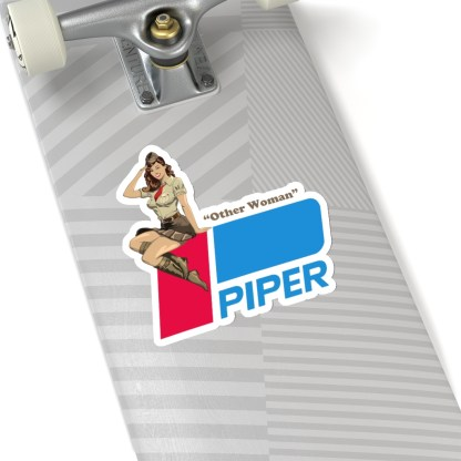 airplaneTees Pinup Piper Other Woman Stickers - Kiss-Cut 16