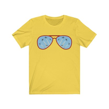airplaneTees Blue Angels Aviators Reflection Tee - Unisex Jersey Short Sleeve 4