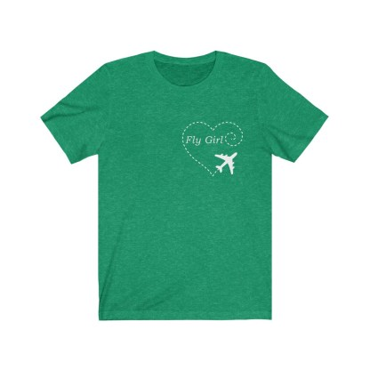 airplaneTees Fly girl - Unisex Jersey Short Sleeve Tee 1