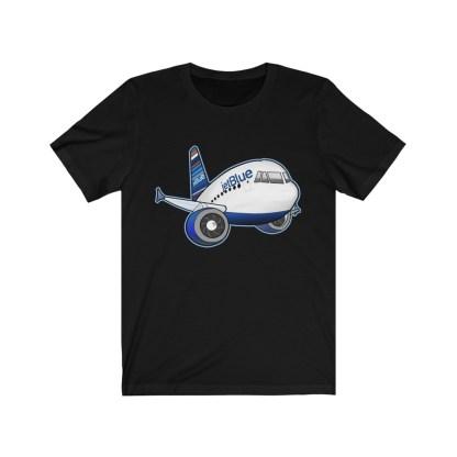 airplaneTees jetBlue Airbus Tee - Unisex Jersey Short Sleeve Tee 5