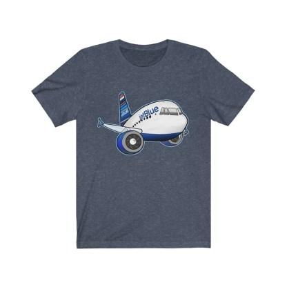 airplaneTees jetBlue Airbus Tee - Unisex Jersey Short Sleeve Tee 14