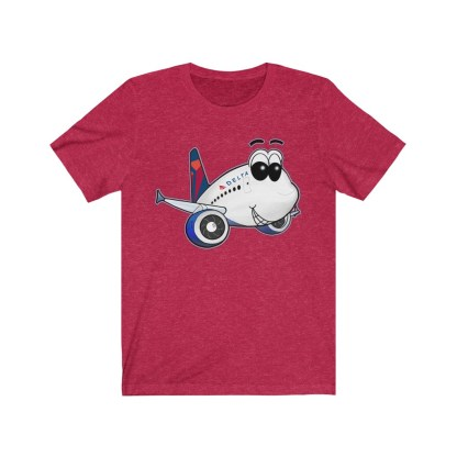 airplaneTees Delta Smiles Airbus Tee – Unisex Jersey Short Sleeve 13