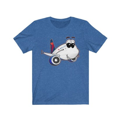 airplaneTees Delta Smiles Airbus Tee – Unisex Jersey Short Sleeve 9