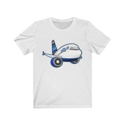 airplaneTees jetBlue Airbus Tee - Unisex Jersey Short Sleeve Tee 2