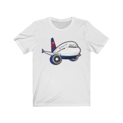 airplaneTees Delta Airbus Tee – Unisex Jersey Short Sleeve 2