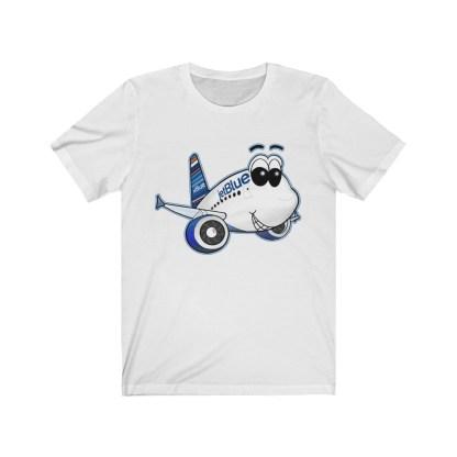 airplaneTees jetBlue Smiles Airbus Tee - Unisex Jersey Short Sleeve 2