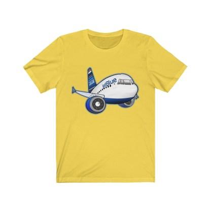 airplaneTees jetBlue Airbus Tee - Unisex Jersey Short Sleeve Tee 7