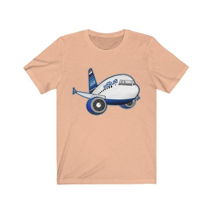airplaneTees jetBlue Airbus Tee - Unisex Jersey Short Sleeve Tee 6
