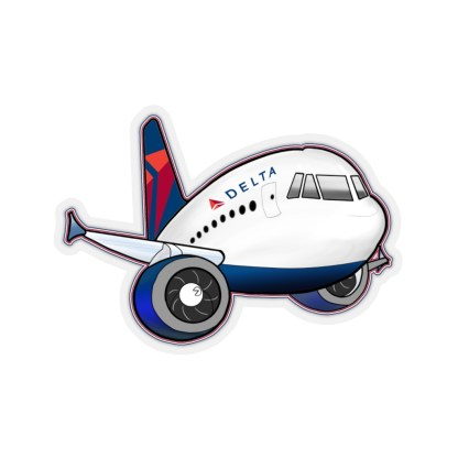 airplaneTees Delta Airbus Stickers - Kiss-Cut 3