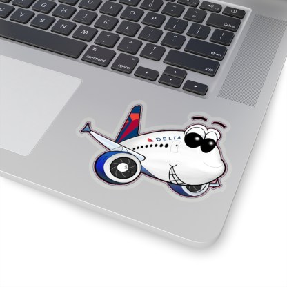 airplaneTees Delta Smiley Airbus Stickers - Kiss-Cut 12