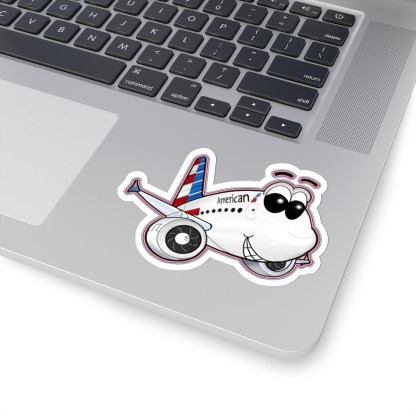 airplaneTees American Airbus Smiley Stickers - Kiss-Cut 6