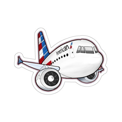 airplaneTees American Airbus stickers - Kiss-Cut 5