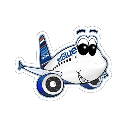 airplaneTees jetBlue Smiley Airbus Stickers - Kiss-Cut 7