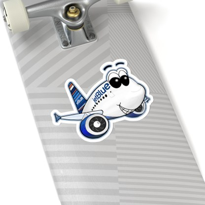 airplaneTees jetBlue Smiley Airbus Stickers - Kiss-Cut 8