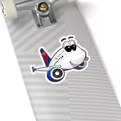 airplaneTees Delta Smiley Airbus Stickers - Kiss-Cut 16