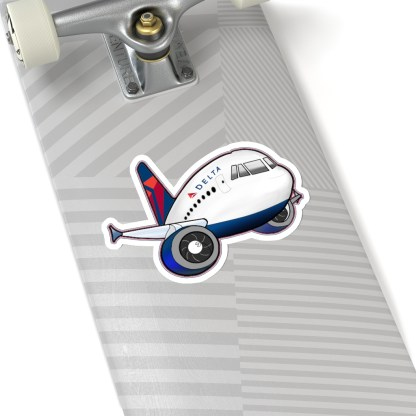 airplaneTees Delta Airbus Stickers - Kiss-Cut 16